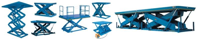 scissor lifts in various styles